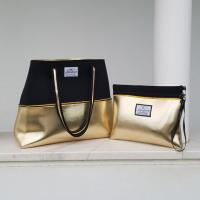 Wholesale Gold Digger neoprene beach bag, travel pouch and tote bag with purse, summer bag, tote bag, vegan fashion from china suppliers