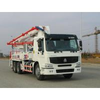 Wholesale Safety Electronically Control Concrete Pump Truck Strong Stability With HOWO Chassis from china suppliers