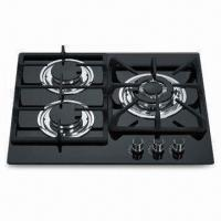 Wholesale 3-burner Built-in GAS Stove with Stainless Steel Oil Dish and Cast Iron Pan Support from china suppliers
