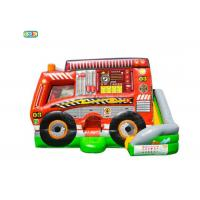 Wholesale Fire Truck Inflatable Jumping Castle Childrens Bouncy Castle 0.55mm PVC Material from china suppliers