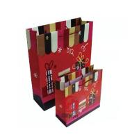 Wholesale Recycled 157gsm Ivory board matte laminated gift Printed Paper Carrier Bags from china suppliers