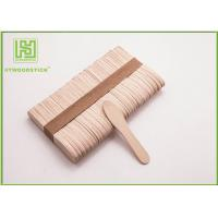 Quality Large Ice Cream Popsicle Sticks , 75mm Jumbo Paddle Pop Sticks Non - Waxed for sale