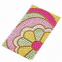 Buy cheap Crystal/Acrylic/Gem Sticker for Mobile Phone Decoration, Measures 5.5x9.5cm from wholesalers