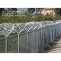Wholesale welded mesh fence or chain link fence with barbed wire or razor wire on the top from china suppliers