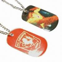 Wholesale Dog Tags, Made of Stainless Steel/Zinc-alloy Material, Measuring 50 x 29mm from china suppliers
