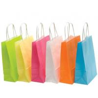 Wholesale Recyclable Colored Kraft Paper Bags , Custom Brown Paper Bags For Department Stores from china suppliers