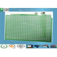 Wholesale Green Oil Polyester PET Flex Circuit , Flex Pcb Stiffener Membrane Keypad Switch Circuit from china suppliers