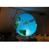 Wholesale Customized Inflatable Earth Globe , PVC Helium Filling Pplanet Earth Balloons from china suppliers