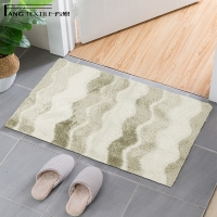 Wholesale Beige Color High Absorbent  Toilet Microfiber  Anti Slip Bath Mat from china suppliers