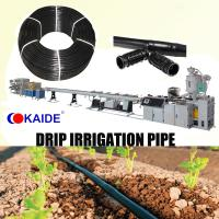 China PE Inline Round drip irrigation pipe extrusion Machinery KAIDE factory wholesale