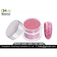 Quality Long Lasting Pink Glitter Nail Dip Powder Light Weight Forever Shine for sale