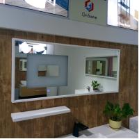 Wholesale Solid Surface Stone Frame Mirror Washroom Illuminated Vanity Mirror from china suppliers