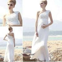Wholesale tulle european beach dresses,  charming beach dresses with one shoulder from china suppliers