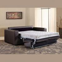 Sofa Bed With Metal Coil Springs Rubber Fabric And High