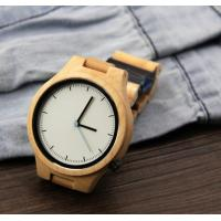Wholesale Popular Handmade Wooden Wrist Watch with Japanese Movement , custom your own logo from china suppliers