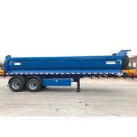 Wholesale U Box Type 2 Axles Hydraulic Dump Trailer , End Dump Trailers 20cbm from china suppliers