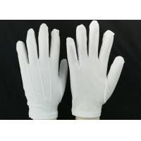 Wholesale Bleached White Lint Free Gloves 23g / Pair Weight 100D Yarn Good Moisture Absorbency from china suppliers