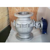 Buy cheap 2-PC Trunnion Ball Valve, ASTM A216 WCB, API 6D, 8 Inch, 150LB, RF,Gear Opeated from wholesalers
