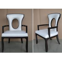 Fabric Upholstered Modern White Leather Dining Room Chairs With Hole