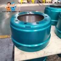 China Heavy Duty Truck Trailer using Brake Drum Trailer Axles Spare Parts on sale