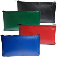 Wholesale Vinly material 12x6'' red colros Bank Deposit Bags PVC zippered money pouch black from china suppliers