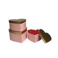 Wholesale Paperboard Pantone Color Heart Shaped Cardboard Flower Boxes With Gold Color Lid from china suppliers