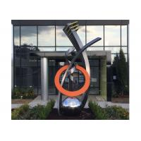 Wholesale Fine Art Modern Stainless Steel Sculpture Monumental Sculpture 3D Abstract Guitar from china suppliers