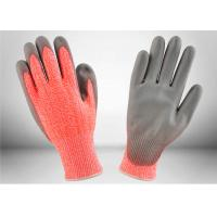 Buy cheap Work Protection Cut Resistant Gloves Orange Knitted Shell Crinkle Latex Coated from wholesalers