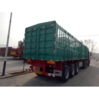 Wholesale High quality fence semi trailer livestock carrier truck with 3 axles fence cargo trailer from china suppliers