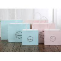 Wholesale Delicate Printed Kraft Paper Bags / Printed Paper Carrier Bags Any Color Available from china suppliers