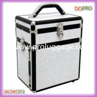 China Twinkle White Fabric Large Volume Makeup Storage Case with Drawers (SACMC012) wholesale