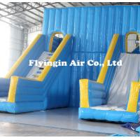 Blower For Inflatable Decorations : Big pvc inflatable double water slide with blower for