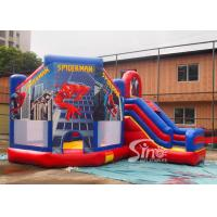 Quality 6x5m kids spiderman inflatable jumping castle with slide for sale price from Sino Inflatables for sale