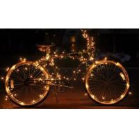 72 Feet Led Glowing Starry String Lights Amber Lights On Copper Wire Battery Operated of ...