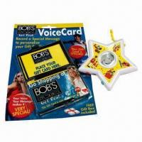 China Recording Star/Voice Card, Suitable As Gifts and Promotional Items on sale
