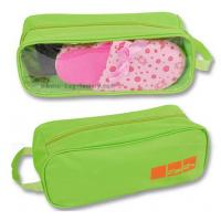 Wholesale 600D Polyester Travel Shoe Storage Bag Slippers Packaging Organizer Pouch With Transparent PVC Window from china suppliers
