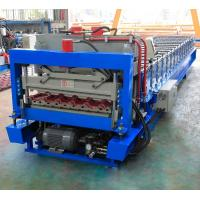 China Metal Glazed Roof Tile Roll Forming Machine With High Production Speed on sale