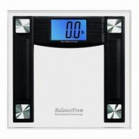 Wholesale High Accuracy Digital Bathroom Scale with 4.3-inch Extra Large Cool Blue Backlit Display from china suppliers