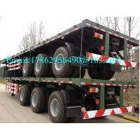 Wholesale Three Alxes 40ft Heavy Duty Semi Trailers Flatbed Truck With 28 Tons Landing Gear from china suppliers