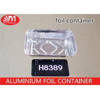Wholesale Rectangle Shape Aluminum Foil Food Containers , Grill Aluminum Foil PansH8389 800ml Volume from china suppliers