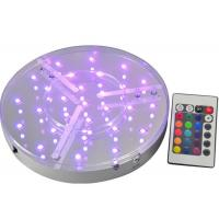 China ROHS UL Multicolor Round Led Light Base Waterproof For Event Party , IR Remote wholesale