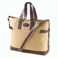 Wholesale Rachel Cotton Canvas Messenger Bag Everyday Tote Bag With Leather Trim from china suppliers