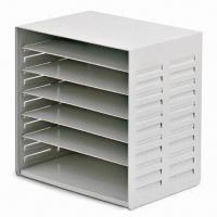 Buy cheap Multi-level Document Tray, Made of Metal, Comes in Black or Gray from wholesalers