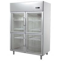 Wholesale Industrial 1200L Glass Four Door Refrigerator With Low Consumption , 1400x890x2050 from china suppliers