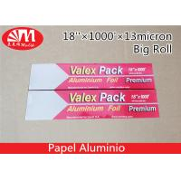 Wholesale Recyclable Catering Aluminium Foil Roll 18In X 13 Micron X 1000Ft Size FDA Approval from china suppliers