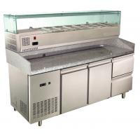Wholesale Granite Countertop Pizza Case Reach In Refrigerator Freezer With Prepare Unit , 380L+65L from china suppliers