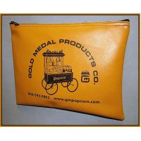 Wholesale Gold 0.1 Thickness PVC  fabric Bank Deposit bags with printing Logo 9'' X 12'' from china suppliers