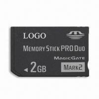 Wholesale Memory Stick Pro Duo, 2GB Memory Capacity, High-speed Data Transfer and 2.7 to 3.6V DC Input Voltage from china suppliers
