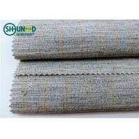 Buy cheap Hair Polyester Mixed Horsehair Interlining Canvas Hair Lining for Men Uniform from wholesalers