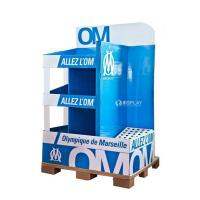 China Creative Pop Advertisement Display Stands , Exhibition Cardboard Display Shelves wholesale